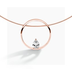 FJF Jewelry Pear collection red goldplated collier - 609817