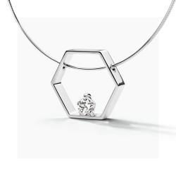 FJF Jewellery zilveren halsketting met Swarovski - 609212