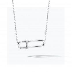 FJF Jewellery zilveren halsketting met Swarovski - 609198