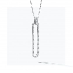 FJF Jewellery zilveren halsketting met Swarovski - 609206