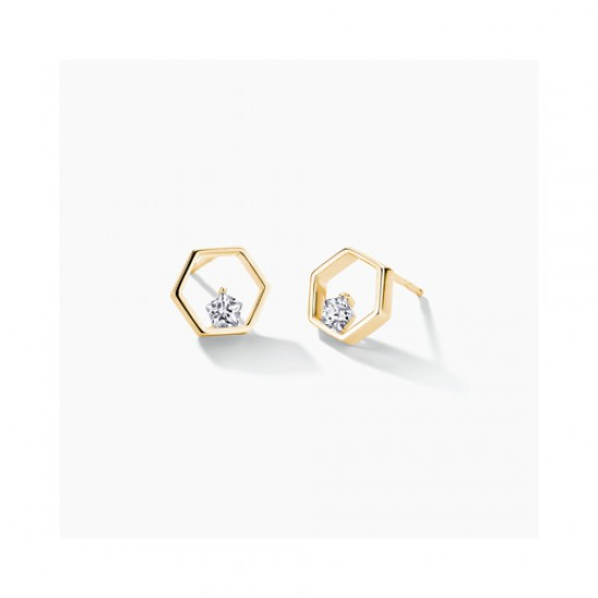FJF Jewellery zilveren oorringen met Swarovski - 609184