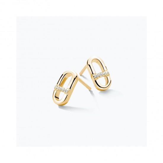 FJF Jewellery zilveren oorringen met Swarovski - 609185