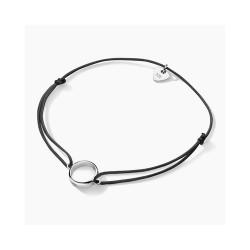 FJF Jewellery zilveren rondje op nylon - 609220