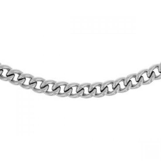 zilveren gourmette ketting - gerhodieerd - 45cm - 609339