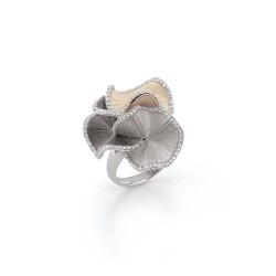 ANNA MARIA CAMMILLI 18kt wit gouden ring met briljant 0.48ct - 606831