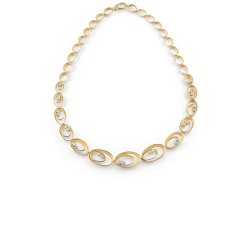 ANNA MARIA CAMMILLI 18kt wit gouden halsketting met briljant 1.29ct - 606828