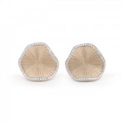 ANNA MARIA CAMMILLI 18kt natuurlijk wit gouden oorringen met briljant 0.36ct - 606834