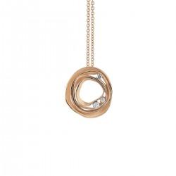 ANNA MARIA CAMMILLI 18kt rose gouden halsketting met hanger, bezet met briljant 0.16ct - 606816
