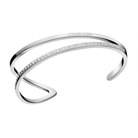Calvin Klein Stalen esclave armband met Swarovski stenen - 606763