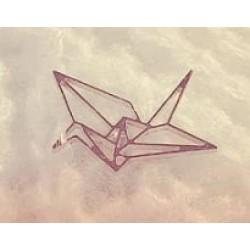 Kraanvogel pin, plaque verguld - 608771