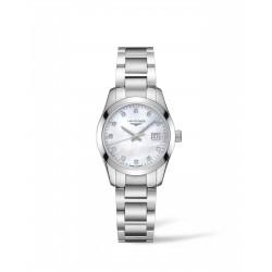 LONGINES Conquest dames uurwerk met batterij en diamant op de wijzerplaat - 606490
