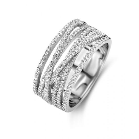 NAIOMY zilveren ring met zirconium - 609031