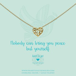 Heart to Get necklace - Nobody can bring you peace but yourself - 601986