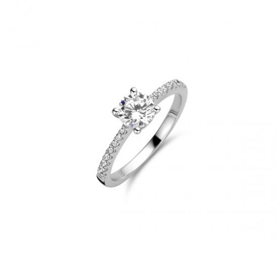 NAIOMY zilveren ring met zirconium - 606920