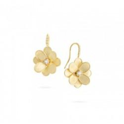 MARCO BICEGO LUNARIA PETALI Collectie - 18kt geel gouden oorringen en diamant 0.21ct - 606023