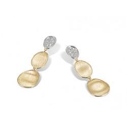 MARCO BICEGO LUNARIA - 18kt bicolor gouden oorringen met diamant 0.18ct - 609784