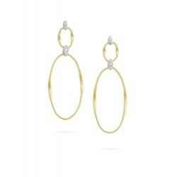 MARCO BICEGO MARRAKECH Onde - 18kt bicolor gouden oorringen met briljant 0.08ct - 608774