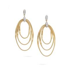 MARCO BICEGO MARRAKECH Onde - 18kt bicolor gouden oorringen met briljant 0.10ct - 608773