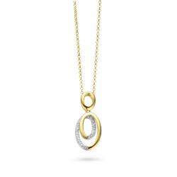 9kt wit gouden hanger met briljant 0.08ct - 604925