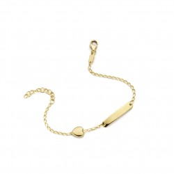 NAIOMY 9kt armband met graveerplaat - 610347
