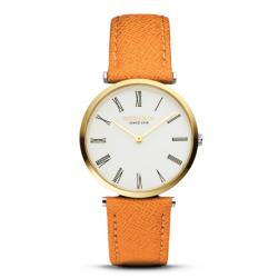 RODANIA Lugano Dames uurwerk - Seaside orange 34 mm - 610087