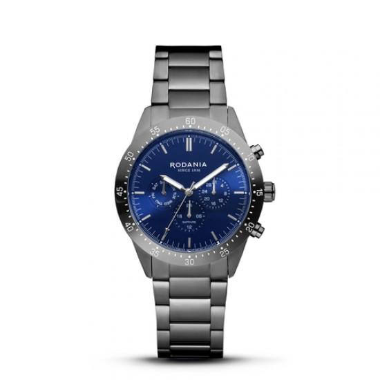 RODANIA Alpine heren chrono uurwerk gun metal - 608854