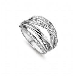 SILVER ROSE RING in zilver met zircoon - 604387