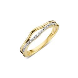 DULCI NEA - 18 kt bicolor ring met diamant (0.07ct.) - 602363