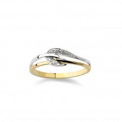 DULCI NEA - 18 kt bicolor ring met diamant - 602285