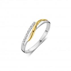 DULCI NEA - 18 kt bicolor ring met diamant - 602276