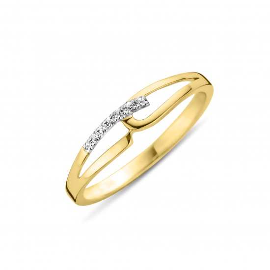 DULCI NEA - 18 kt bicolor ring met diamant - 602280
