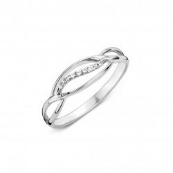 DULCI NEA - 18kt witgouden ring met briljant 0.04ct - 608959