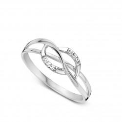 DULCI NEA - 18 kt witgouden ring met diamant - 602278