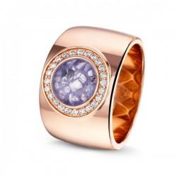 SEE YOU memorial gedenksierraad - zilveren ring rose verguld - 603578