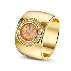 SEE YOU memorial gedenksierraad - zilveren ring (geel verguld) met zirconium - 603571