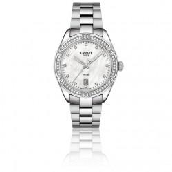 TISSOT PR 100 dames uurwerk quartz met briljant - 607396