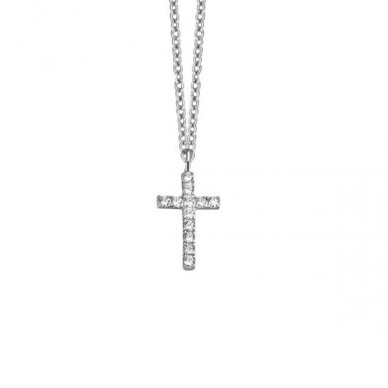 NAIOMY MOMENTES zilveren halsketting met zirconium - 607255
