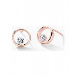 FJF ICON heart Rosegold Plated Earrings - 610102